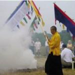 Sakyong blessing the land