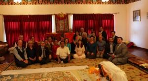 The Sakyong and Sakyong Wangmo with Shambhala students