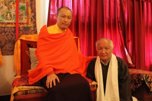 The Sakyong with Mr. Rongae