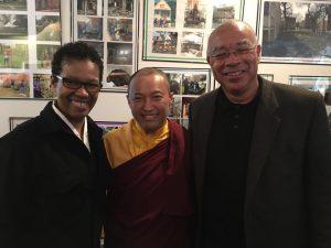 Rev. angel with Sakyong Mipham Rinpoche and Acharya Ferguson