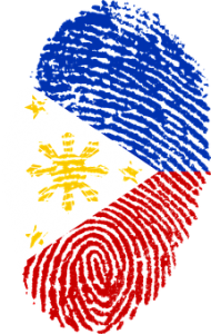 Fingerprint with flag of the Philippines