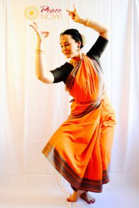 Barbara Parvati performs Indian dance at the Vienna Shambhala Center fundraiser