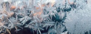 touching the earth, ice crystals